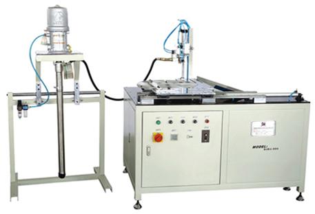 SEZJ-500 Heavy-duty Air Filter PVC End Cap Dispensing Machine